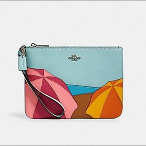 Coach GALLERY POUCH WITH UMBRELLA MOTIF